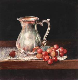 Silver & Grapes art print Ann Cockerill